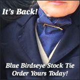 Blue Birdseye Stock Ties For Sale