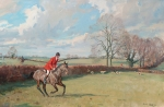 Joss Hanbury, MFH with the Quorn foxhounds by Charles Church
