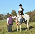 Reserve Champion First Field 12 & Under: Eliza Van der Woude, Warrenton, and Huntin' Around