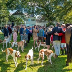 Hounds, riders, and club members