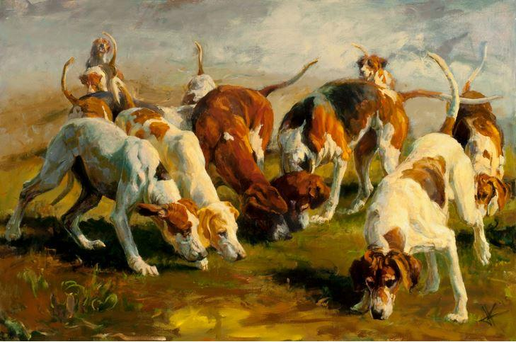 juli kirk.hounds on scent.10350