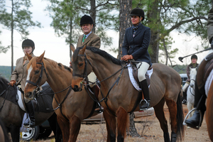 2011_Aiken_day_three_Whiskey_Road_field_master_Geri_Rapp_Fairfax_Hunt_member_Ray_Moffett_Fairfax_Hunt_member_Petra