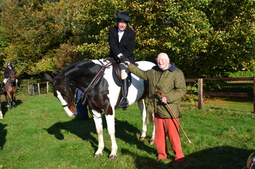 Tara visitor Charlie Noell of Ardbraccan House and the Elkridge  Harford Hunt in Maryland USA and Tara Harriers Joint Master George Briscoe
