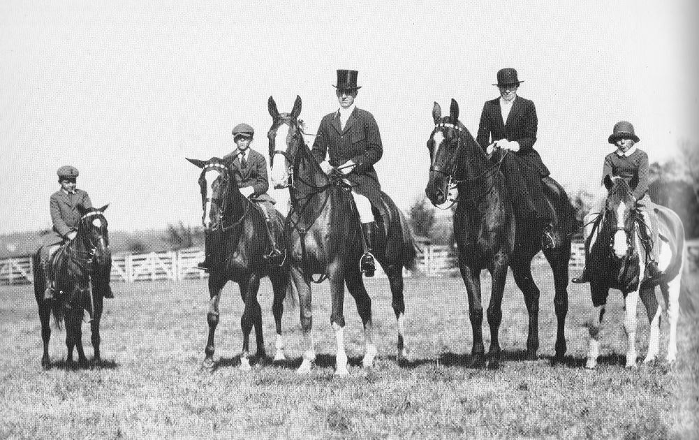 saltonstall family fox hunting.1930.norfolk