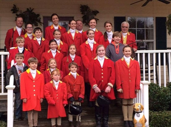masters and junior fox hunters at Belle Meade Hunt opening meet
