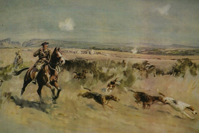 lionel edwards.hunting on the salonica front
