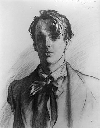 william butler yeats 1865 1939 charcoal by John Singer Sargent.Wikimedia Commons.small