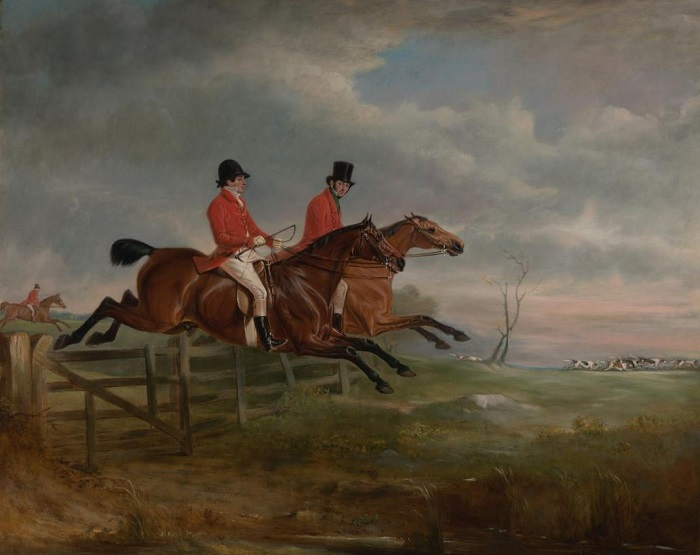 squire osbaldeston.Sir Frances Holyoake Goodricke.1830.John FERNELEY